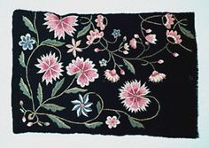 DigitaltMuseum - Broderiprov Scandinavian Embroidery, Swedish Embroidery, Hand Stitching, Namaste, Folk Art, Appreciation, Christ, Tapestry, Inspiration