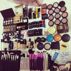 i should lay all my makeup out and take a picture... it would probably look a lot like this. and i don't know if that's a good thing or a bad thing... :\ yolo! lol :))
