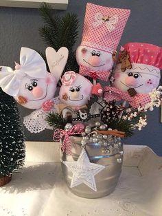 ❤️Süßes Lebkuchen Gesteck rosa★Tilda Art★Weihnachten★Advent★Handarbeit❤️ Ideas Para, Centerpieces, Children, Christmas, Diy, Father Son Holy Spirit, Father And Son, Jars, Feltro