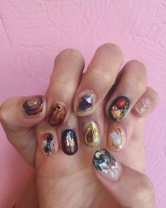 45 Perfect Nail Polish Design Ideas in 2020 in 2020 Fabulous Nails, Perfect Nails, Gorgeous Nails, Gem Nails, Hair And Nails, Nail Polish Designs, Nail Art Designs, Cute Nails, Pretty Nails