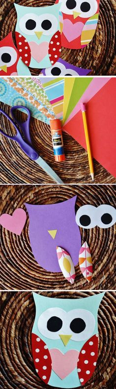 Owl Valentines | DIY Valentines Crafts for Kids to Make | Easy Valentines Day Activities for Classroom