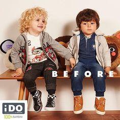 Oggi Tommy e Mattia sono silenziosi. Chissà a cosa staranno pensando... Scopri i loro look su www.ido.it  #iDOkidswear #HappykidsiDO #100x100bambini #Before #amici #babykids