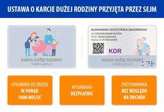 Sejm przyjął ustawę o Karcie Dużej Rodziny. Szczegółowe informacje: https://rodzina.gov.pl/duza-rodzina/karta-duzej-rodziny
