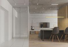 4 Bright Studio Apartments With Creative Bedroom Placement Small Apartments, Small Spaces, Studio Apartments, Apartment Office, Entry Way Design, Bedroom Layouts, Modern House Design, Interior Design, Bright