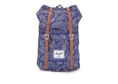 Modrý batoh s palmovým potiskem Herschel Retreat Kingston
