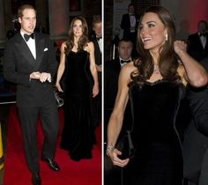 Kate wore a black velvet Alexander McQueen to the Sun Military Awards in December 2011.