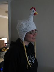 Ravelry: Chicken Earflap Beanie pattern by Emily R. Snyder