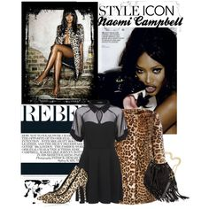 Style Icon. Naomi Campbell. by statisticam on Polyvore featuring Biba, Topshop, H&M, styleicon, topset and naomicampbell