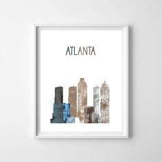 Atlanta Atlanta printable Atlanta skyline Atlanta art