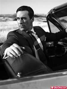 """Jon Hamm. Old school, """"shaken-not stirred"""", martinis at two in the afternoon, it's ok if you smoke inside, type sexy."""