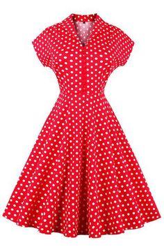 Red Polka Dot Short