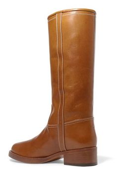 Etro - Leather Knee Boots - Tan - IT37.5