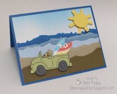 Beach Scene Card by LorriHeiling - Cards and Paper Crafts at Splitcoaststampers