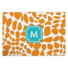 Whitney English Lizard Single Initial Fabric Placemat Letter: D