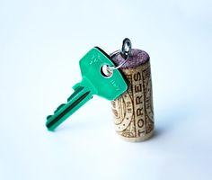 Wine Cork Keychain http://www.handimania.com/diy/wine-cork-keychain.html