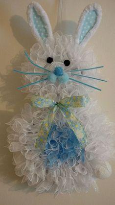 hand made Deco mesh easter, spring, bunny wreath | Home & Garden, Holiday & Seasonal Décor, Easter & Spring | eBay!
