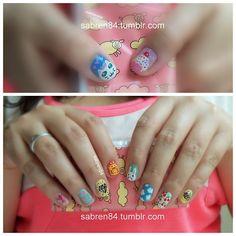Cute/kawaii mix & match nails :)