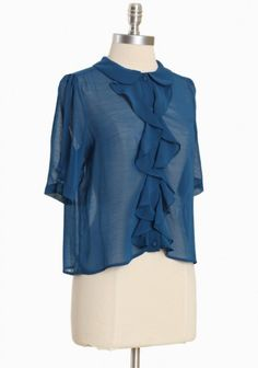 Brooklyn Skyway Ruffle Blouse #Ruche