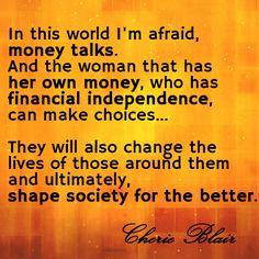 Economic empowerment for women #CherieBlair #inspiring #womenchangetheworld