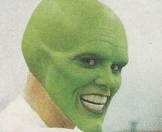 Photos inédites : Jim Carrey en séance de maquillage pour The Mask