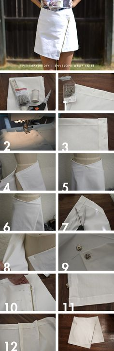 Envelope Wrap Skirt - 18 Stylish and Trendy DIY Clothes Tutorials and Ideas