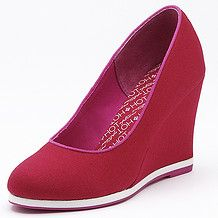 Spicey Canvas Wedges - Red