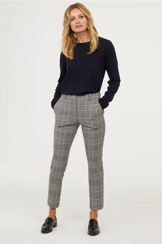look pantalon carreaux femme