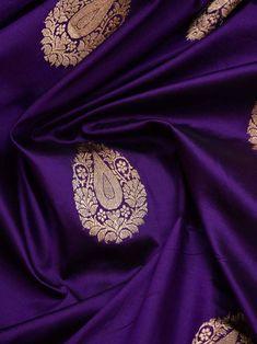 Sacred Weaves - Shop for Exquisite Banarasi Sarees Online Bridal Sarees South Indian, Bridal Silk Saree, Indian Bridal Outfits, Indian Designer Outfits, Saree Wedding, Indian Sarees, Silk Saree Kanchipuram, Banarasi Sarees, Purple Saree