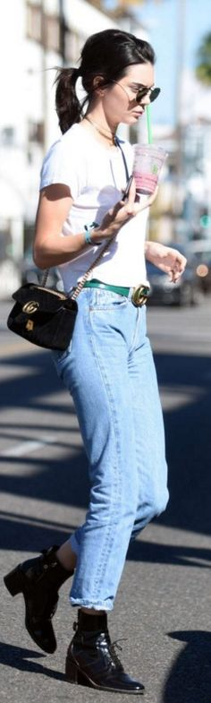 496aa04285 Sunglasses – Ray Ban Shirt and jeans – Re done Purse and belt – Gucci
