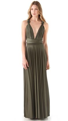 Twobirds Long Convertible Dress-Hmmm great dress to use over again for weddings or nice events. I may need to purchase!