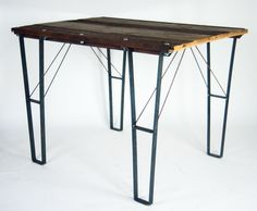 Industrial meets Rustic custom table from Woodstock Vintage Lumber    woodstockvintagelumber.com