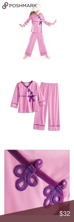 NWT AMERICAN GIRL 14/16 Satin Pajama Set NWT AMERICAN GIRL 14/16 Satin Pajama Set. They sent wrong size and I forgot to ever return. Paid $49 with shipping. Beautiful detail and quality with matching sets for the dolls. american girl Pajamas Pajama Sets