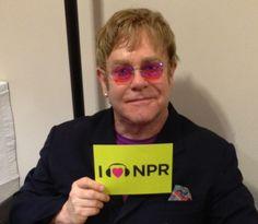Elton John at NPR HQ in DC