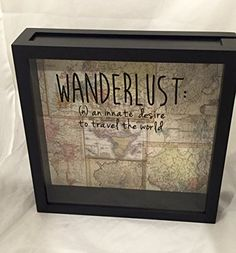 World Traveler Ticket Stub or Souvenir/Keepsake Shadow Box 12x12 (Wanderlust Definition)