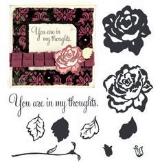 "Close to My Heart My Acrylix Stamp Set Rosy Regards  Set of 10  Recommended My Acrylix® Blocks:  1"" × 1"" (Y1000), 1"" × 3 ½"" (Y1002), 2"" × 2"" (Y1003)    $9.95"