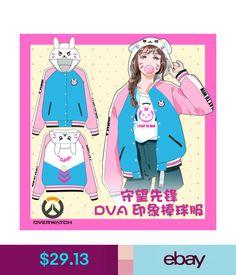 Costumes Game Overwatch DVa Cosplay Hoodie Sweater Long Sleeve Jacket Baseball Uniform Q