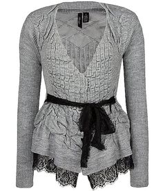 BKE Boutique Ruched Cardigan Sweater..what a adorable card!