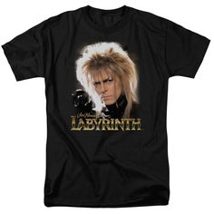Labyrinth TShirt Jareth on Black