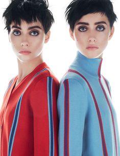 Lia Pavlova & Odette Pavlova for Vogue Russia November 2015 | The Fashionography
