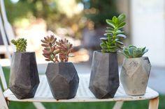 Geometric Concrete Succulent Cacti Planter par ConcreteGeometric, $100.00