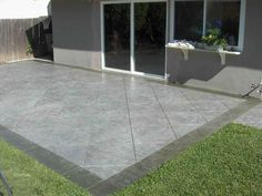 I like the color and pattern of this stamped concrete patio.