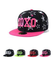 b00c1f01ba3 Hats ♡ · KPOP EXO XOXO Star Baseball Cap Snapback Adjustable Hip-Hop Cap  Fashion Flat Hat