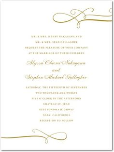 Thermography Wedding Invitations Luxe Lines - Front : Black