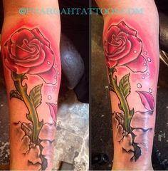 Pharoah Tattoos | Long Stem Rose Tattoo
