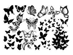 Fichiers gratuits pour Silhouette Caméo & Portrait - 30 motifs de papillons