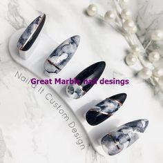 25 Marble Nail Design with Water & Nail Polish 1 - Beauty Fashion Corner Nail Art Designs, Marble Nail Designs, Marble Nail Art, Nails Design, Painted Nail Art, Nail Art Galleries, Marmor Nails, Water Nails, Water Marble Nails