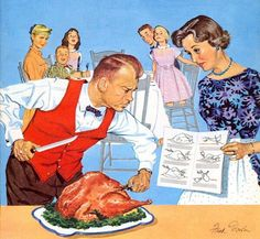 Cover Art From American Weekly Magazine November 23 1958 Vintage ThanksgivingThanksgiving