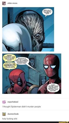 Spiderman and Deadpool team up to start fires Funny Marvel Memes, Dc Memes, Marvel Jokes, Funny Comics, Funny Memes, Avengers Humor, Deadpool Und Spiderman, Deadpool Funny, Deadpool Facts