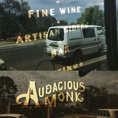 variegated gold leaf glass sign - Google Search