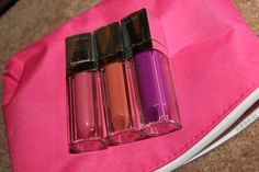 Maybelline Color Elixir lipglosses! Petal Plush, Nude Illusion, and Vision in Violet.